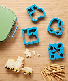 Loving this Blue Vroom Sandwich Cutter Set on #zulily! #zulilyfinds