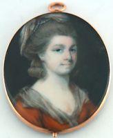 Portrait Miniature of a Lady by James Nixon c1765 - Original Gold Frame