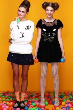 KAWAII - Fashion / ROMWE   Black Kitty Dress, The Latest Street Fashion