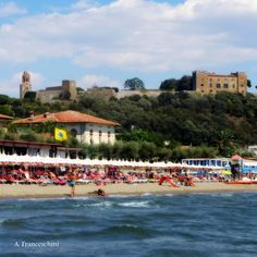 On the beach in Tuscany. More beach, more Tuscany on the website.