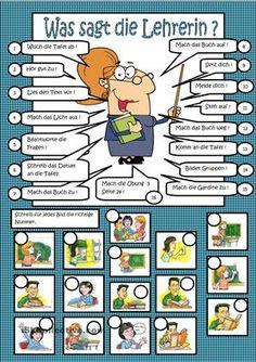 Klassensprache : im Deutschunterricht - DaF Arbeitsblätter