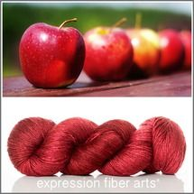 Limited Edition RED APPLES SUPERWASH MERINO SILK PEARLESCENT FINGERING