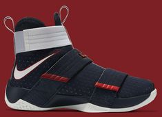 LeBron James Isn't Going to the Olympics, But His Sneakers Are Nike Shoes Blue, Nike Air Shoes, Nike Shoes Outlet, Nike Shoes Girls Kids, Girls Basketball Shoes, Nike Lebron, Lebron James Soldier 10, Zapatillas Nike Jordan, Irving Shoes
