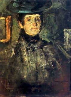 Olga #Boznańska, #Selfportrait, 1908