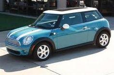 Tiffany blue mini cooper with full sunroof.