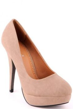 Faux Leather Rounded Toe Court Shoe