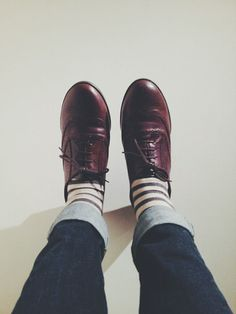 Striped socks and brogues