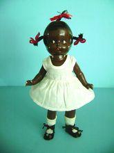 Vintage 1920'S RARE Effanbee Patsy JR African American Black Doll Negro TOPSY