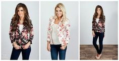 This floral blazer is darling - and it's on sale for only $22.99!