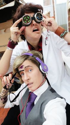 Cecil and beautiful Carlos cosplay from Welcome to Night Vale.