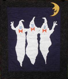 """Hallowbooyah Chorus""  (!)   Halloween quilt pattern at Maudie's Cottage.  Wall hanging or door banner."