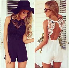 Playsuit Romper Women Clothing Sexy Summer Brand Casual White Black Sleeveless Halter Jumpsuit via MagicSales. Click on the image to see more!