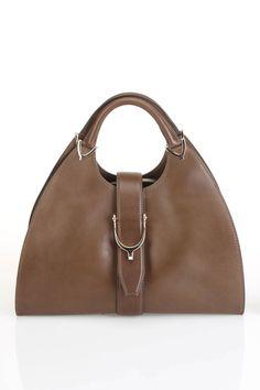 Gucci Stirrup Top Handle Bag In Mud