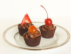 Chocolate Ganache Cups for passover