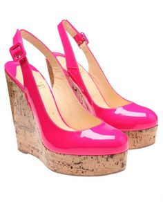 57d59fd0d LOUBOUTIN Altike Patent Leather and Cork Platform Wedges  dressmesweetiedarling