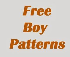 Sew Boy: Free Boy Patterns - haven't really looked through but looks like big list. Boys Sewing Patterns, Kids Patterns, Sewing For Kids, Free Sewing, Clothing Patterns, Baby Sewing Projects, Sewing Hacks, Sewing Tutorials, Sewing Crafts
