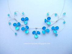 Wire flower necklace with nail polish Gallery 2 PDF guide PDF guide view Gallery 1 . Nail Polish Jewelry, Nail Polish Flowers, Nail Polish Crafts, Nail Polish Storage, Blue Nail Polish, Flower Nails, Diy Jewelry Rings, Diy Jewelry Necklace, Resin Jewelry