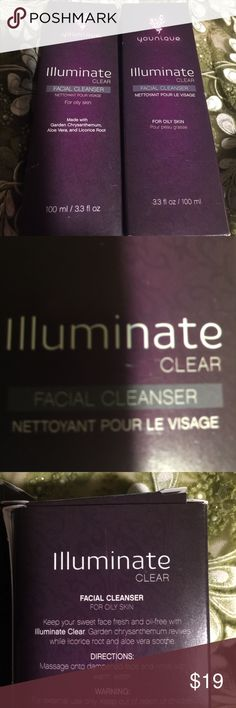 Younique CLEAR Facial Cleanser. BUN  Younique Illuminate Clear Facial Cleanser. It removes dirt and oils for blemish-free complexion. This is used for 🤗OILY SKIN🤗 Younique Makeup