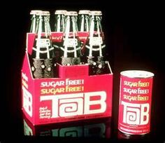 """Tab Cola - first ever diet cola.  I remember these bottles.    This was actually good soda for """"diet""""."""