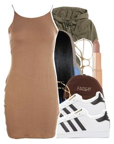 """3/30/16"" by lookatimani ❤ liked on Polyvore featuring H&M, Charlotte Tilbury and adidas Originals"