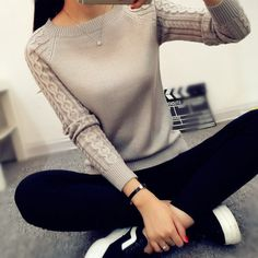 2017 New Fashion Autumn Winter Knitted Women Sweaters And Pullover Pull Femme Long Sleeve Clothing Basic Tops Jumper