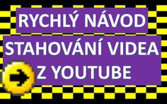 Návod - Jak stáhnout video z youtube Internet, Youtube, Videos, Music, Top, Musica, Musik, Muziek, Music Activities