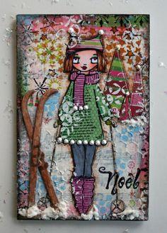 She-art snow skiier gal.....cute.