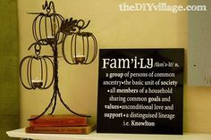 using vinyl to create personalized tile art, crafts, The Definition of Family A Personalized Tile Art Project