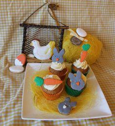 Cupcakes con galletas para Pascua.