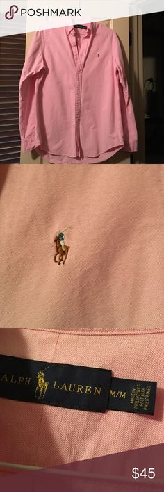 Men's pink oxford shirt EUC worn a handful of times. No stains or rips Polo by Ralph Lauren Shirts Dress Shirts