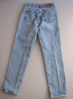 Rough Rider 1970s Vintage high-waist jeans blue denim cotton pants S M 31 long