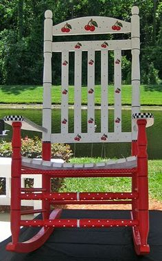 This is the cutest Cherry rocking chair ever!<3