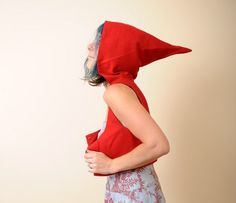 Little Red Riding Hood  Cropped Bustier Top with Goblin by Malam, €105.00