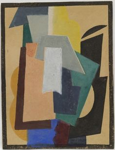 """Liubov Popova, """"Untitled from Six Prints"""", c. 1917 - 19. MoMA.  Para la pintora rusa el color asume un significado formal a partir del impresionismo, que evolucionaría de ser un medio de representación a contribuir a su propia materialización en el arte ruso moderno. #ProgramaNosotras"""