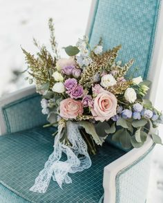 Textural Bridal Bouquet for Wedding Day: Snowy Pastel Wedding Inspired Styled Shoot from Dawn Derbyshire Photography and Jessica Garda Events featured on Burgh Brides Pastel Wedding Colors, Diy Wedding Flowers, Bridal Flowers, Floral Wedding, Pastel Weddings, Wedding Day Tips, Free Wedding, Wedding Ideas, Wedding Hacks
