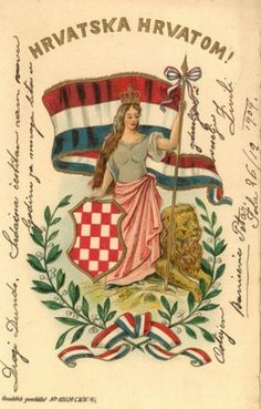 Greeting card from 1904: Hrvatska Hrvatom! (Croatia to the Croats)