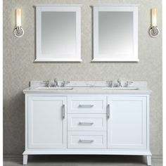 Find, Shop for and Buy Ariel SCNAN60S Double sink bathroom vanity set at QualityBath.com for $1,899.00 with free shipping!