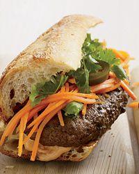 Bahn Mi Burgers. Instead of using Tabasco, I'm going to use Sriracha.