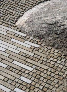Pedra da Ra-Aussichtsplattform, Spanien / CSA arquitectura - Gu De Design Network - g_public pavements - Landscape Architecture Degree, Villa Architecture, Landscape Design Software, Architecture Diagrams, Pavement Design, Architect Jobs, Paving Pattern, Paving Design, Landscaping Tips