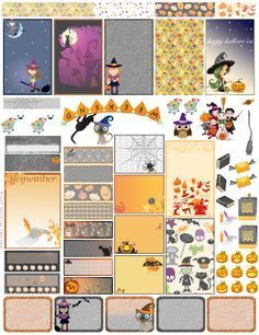 Halloween Planner Printable Stickers.