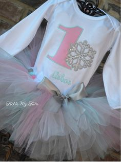 Winter ONEderland Pink and Aqua Snowflake Winter Themed Birthday SHIRT ONLY on Etsy, $26.00