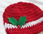 Christmas Toddler hat/ Crochet hat. $15.00, via Etsy.