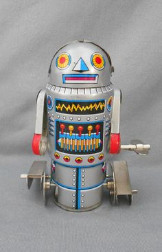 Vintage TIN TOY 1960s Robot-7 Japan Wind Up by CoolOldStuffForSale