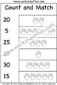Printables Count And Match Numbers 1-20 count and match numbers 1 20 one worksheet kindergarten 30 worksheet