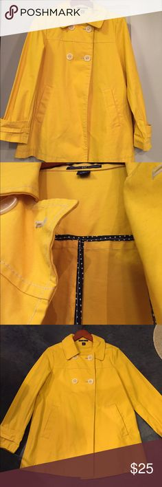 (Sale) Gap Yellow Twill Pea Coat This coat is in awesome shape. Barely worn. GAP Jackets & Coats Pea Coats