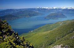 Howe Sound, northwest of Vancouver