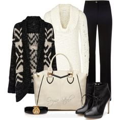 A fashion look from December 2012 featuring Warehouse cardigans, Reiss sweaters and MaxMara pants. Browse and shop related looks.
