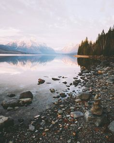 Sundown on Lake McDonald, Montana @stayandwander