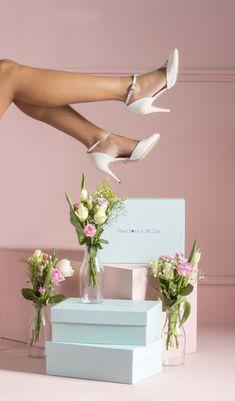 e2c1439cfd Anastasia Silver Bridal Shoe by Charlotte Mills Silver Bridal Shoes, Wedding  Shoes, Low Heels