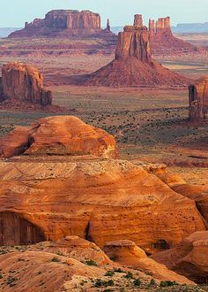 Valley of Monuments at Dawn by Bob Phillips